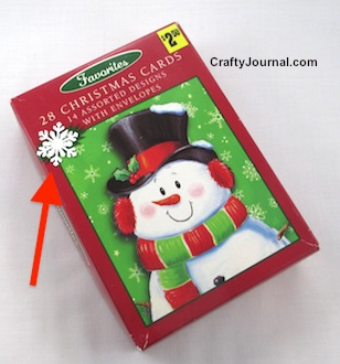 Make a Christmas Card Box into a Gift Box by Crafty Journal