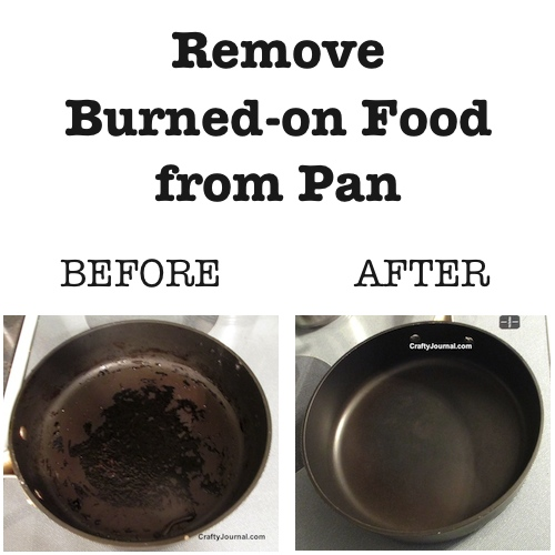 Remove Burned On Food From A Pan