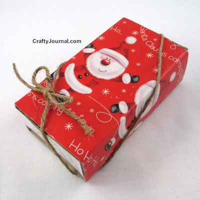 Quick Reusable Gift Box from a Matchbox by Crafty Journal