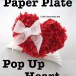 Paper Plate Pop Up Heart