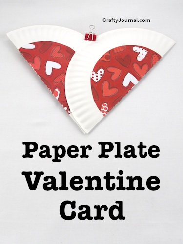 Paper Plate Valentine Card by Crafty Journal