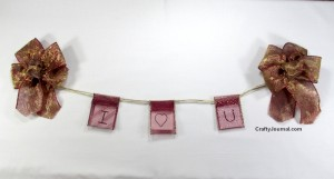Valentine Ribbon Pouch Banner by Crafty Journal