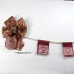 Valentine Ribbon Pouch Banner