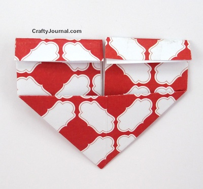 Fold a Quick Heart Bookmark by Crafty Journal