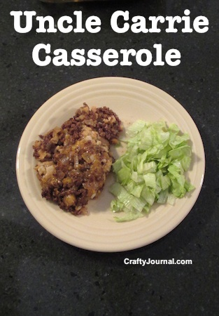Uncle Carrie Casserole by Crafty Journal