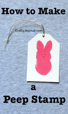 How to Make a Peep Stamp by Crafty Journal