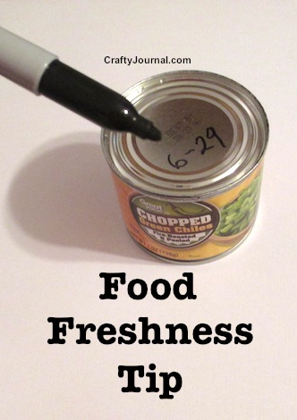 Simple Food Freshness Tip from Crafty Journal