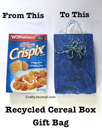Gift Bags from Recycled Cereal Boxes