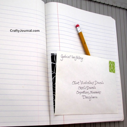 Easy Pocket Page in a Book - Idea #4 by Crafty Journal