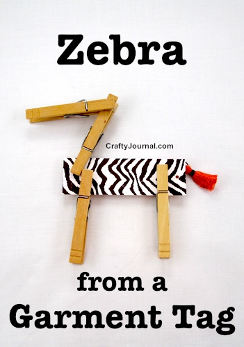 Craft a Fun Zebra From a Garment Tag by Crafty Journal