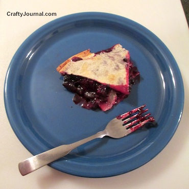 Quick Blueberry Pie by Crafty Journal