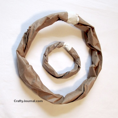 Basic Brown Paper Bag Wreath to Use As a Base for Any Wreath by Crafty Journal.
