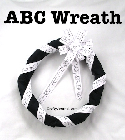 Use Alphabet Strip Ribbon to Make an ABC Wreath. by Crafty Journal