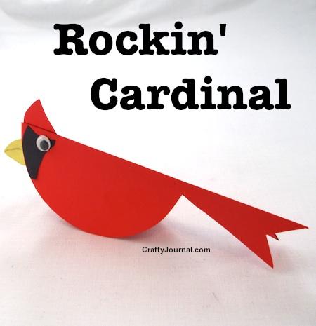 Fun Rockin' Cardinal for Kids by Crafty Journal