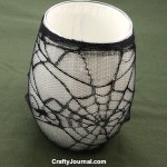 Spider Web Candle Jar