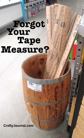 Forgot Your Tape Measure? by Crafty Journal