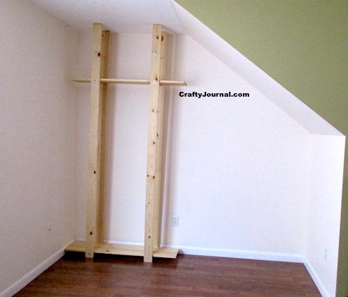 DIY Bookshelves Under The Stairs