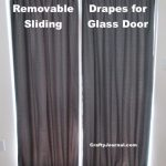 Removable Drapes for Sliding Glass Door