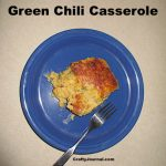 Corn and Green Chili Casserole, Gluten Free